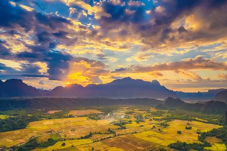 95285790-aerial-view-of-the-fields-and-mountain-beautiful-landscape-vang-vieng-laos-